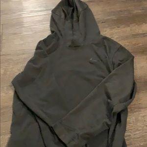 Boys Gray Nike Long Sleeve Hoodie Tshirt